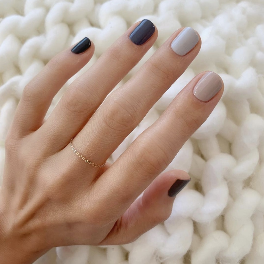 Fall nail designs with the neutral colors